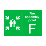 Fire Assembly Point F Sign | PVCSafetySigns.co.uk