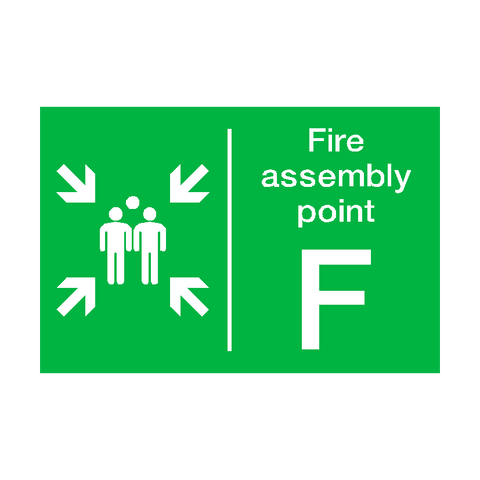 Fire Assembly Point F Sign | PVC Safety Signs | Health and Safety Signs