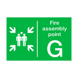 Fire Assembly Point G Sign | PVCSafetySigns.co.uk