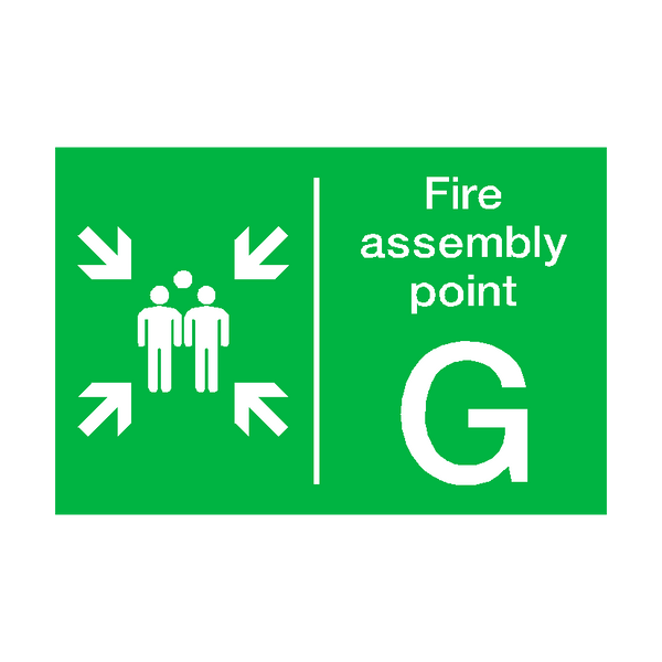 Fire Assembly Point G Sign - PVC Safety Signs