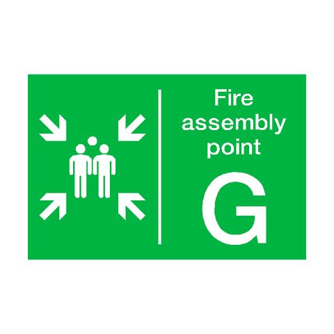 Fire Assembly Point G Sign | PVC Safety Signs | Health and Safety Signs