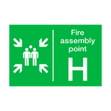 Fire Assembly Point H Sign | PVCSafetySigns.co.uk