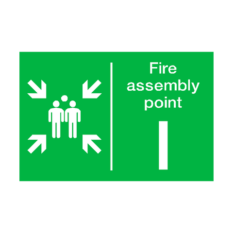 Fire Assembly Point I Sign | PVC Safety Signs | Health and Safety Signs
