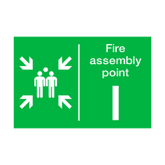 Fire Assembly Point I Sign