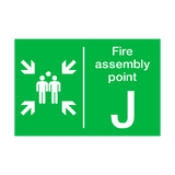 Fire Assembly Point J Sign | PVCSafetySigns.co.uk