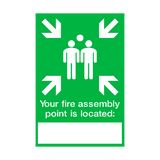 Fire Assembly Location Point Sign | PVCSafetySigns.co.uk
