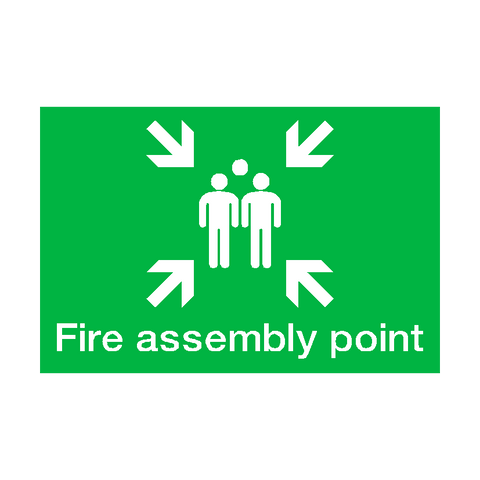 Fire Assembly Point Landscape Sign | PVC Safety Signs | Health and Safety Signs
