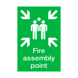 Fire Assembly Point Portrait Sign - PVC Safety Signs