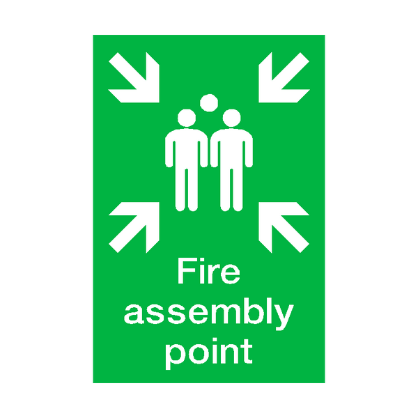 Fire Assembly Point Portrait Sign | PVCSafetySigns.co.uk