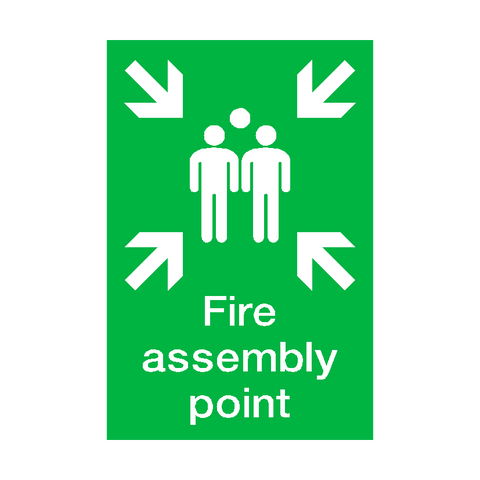 Fire Assembly Point Portrait Sign | PVC Safety Signs | Health and Safety Signs