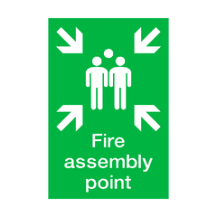 Fire Assembly Point Portrait Sign