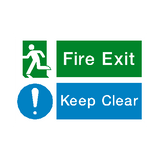 Fire Exit Keep Clear Sign | PVCSafetySigns.co.uk