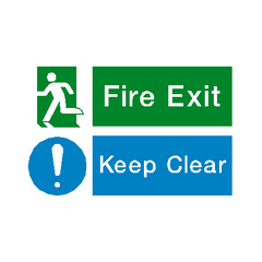 Fire Exit Keep Clear Sign - PVC Safety Signs | Safety Signs Specialists