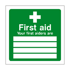 First Aid Personnel Sign