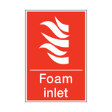 Foam Inlet Sign | PVC Safety Signs