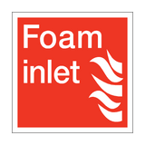Foam Inlet Square Sign | PVC Safety Signs