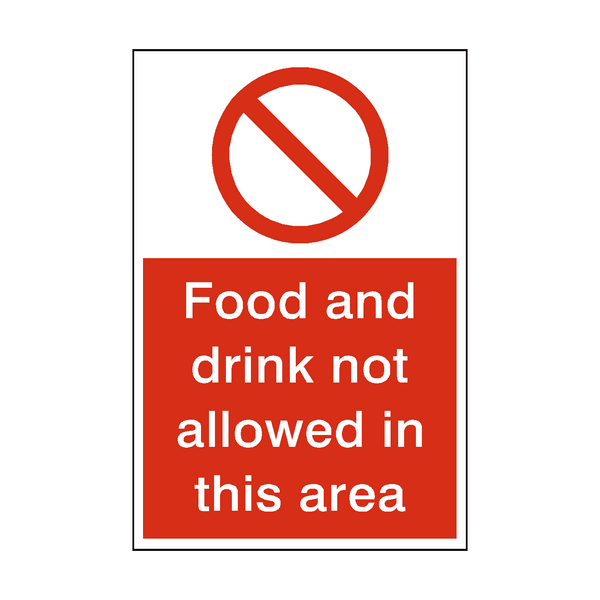 Food And Drink Not Allowed Sign - PVC Safety Signs