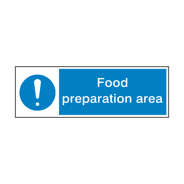 Food Preparation Area Hygiene Sign | PVC Safety Signs