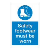 Safety Footwear Mandatory Sign | PVCSafetySigns.co.uk