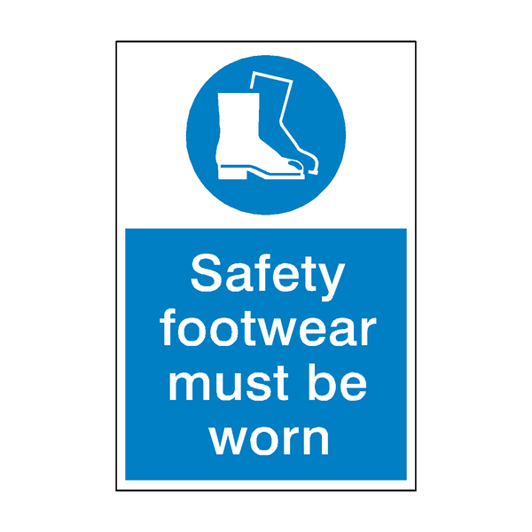 Safety Footwear Mandatory Sign | PVC Safety Signs