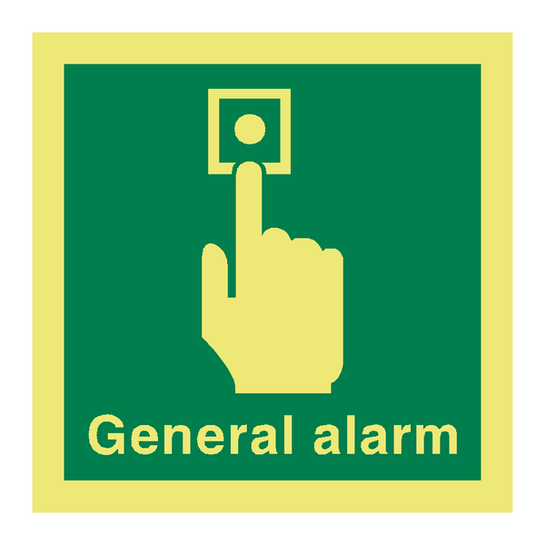 General Alarm Symbol Sign - PVC Safety Signs
