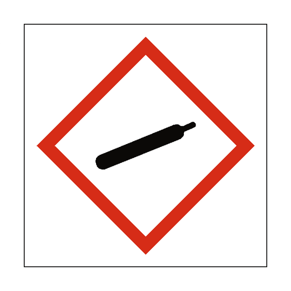 Compressed Gas COSHH Sign | PVCSafetySigns.co.uk