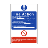 General Fire Action Sign - PVC Safety Signs