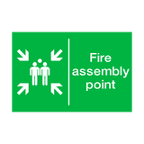 General Fire Assembly Point Sign | PVCSafetySigns.co.uk