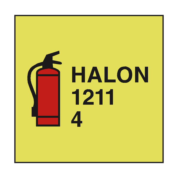 HALON 1211 FIRE EXTINGUISHER IMO | PVC Safety Signs
