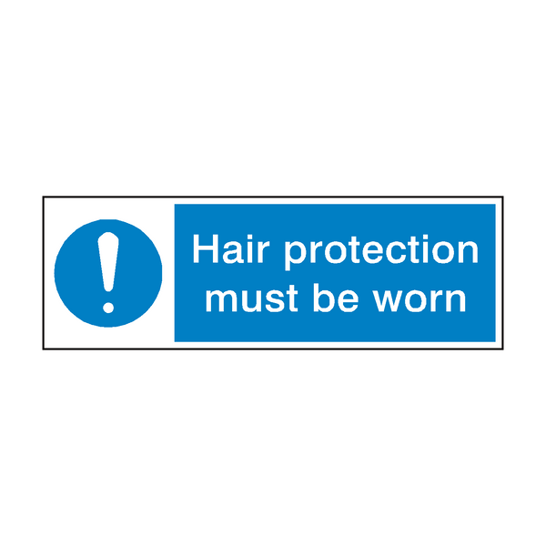 Hair Protection Sign | PVC Safety Signs