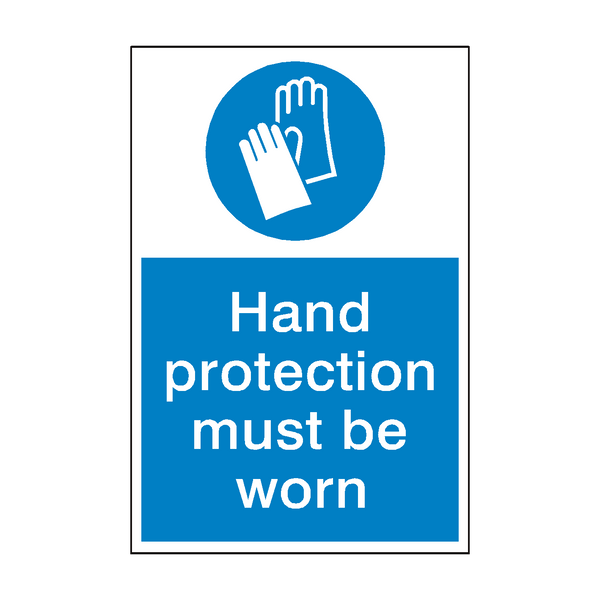 Hand Protection Mandatory Sign | PVC Safety Signs