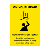 Safety Helmet Poster | PVCSafetySigns.co.uk