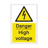 High Voltage Sign | PVCSafetySigns.co.uk
