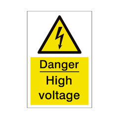 High Voltage Sign | PVC Safety Signs | Health and Safety Signs