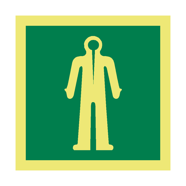 Immersion Suit Symbol Sign | PVC Safety Signs