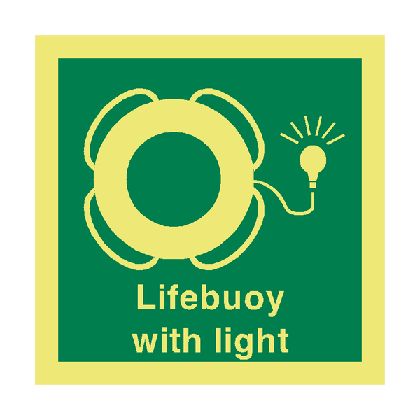 Lifebuoy Light Safety Sign | PVC Safety Signs