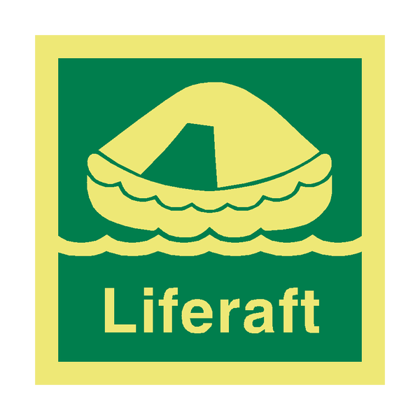 Liferaft IMO Safety Sign | PVC Safety Signs