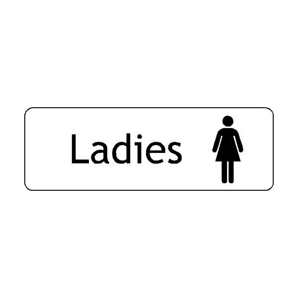 Ladies Toilets Door Sign | PVC Safety Signs