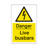 Live Busbars Sign | PVCSafetySigns.co.uk