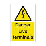 Live Terminals Sign | PVCSafetySigns.co.uk