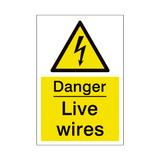Live Wires Sign | PVCSafetySigns.co.uk