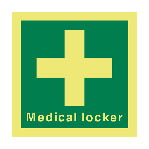 Medical Locker IMO Sign | PVC Safety Signs