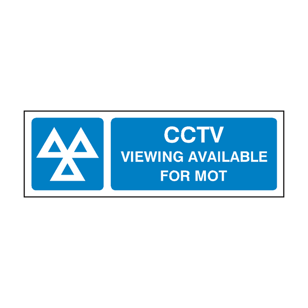 MOT CCTV Sign | PVC Safety Signs