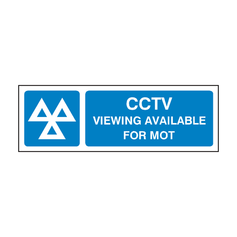 MOT CCTV Sign | PVC Safety Signs | Health and Safety Signs