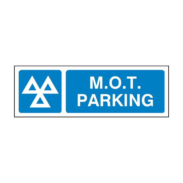 MOT Parking Sign - PVC Safety Signs