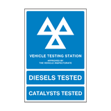 MOT Sign Main | PVCSafetySigns.co.uk