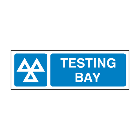 MOT Sign Testing Bay | PVC Safety Signs | Health and Safety Signs