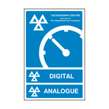 MOT Tachograph Approved Digital Analogue Sign | PVC Safety Signs