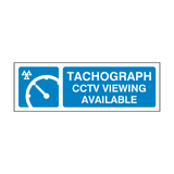 MOT Tachograph CCTV Viewing Sign
