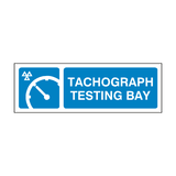 MOT Tachograph Testing Bay Sign | PVC Safety Signs